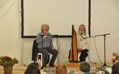 Philip Carr-Gomm and Myrdhin present the Druid festival scheme at The Celtic Orthodox Church in Brittany