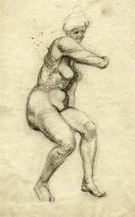 From a life drawing class. R.Nichols