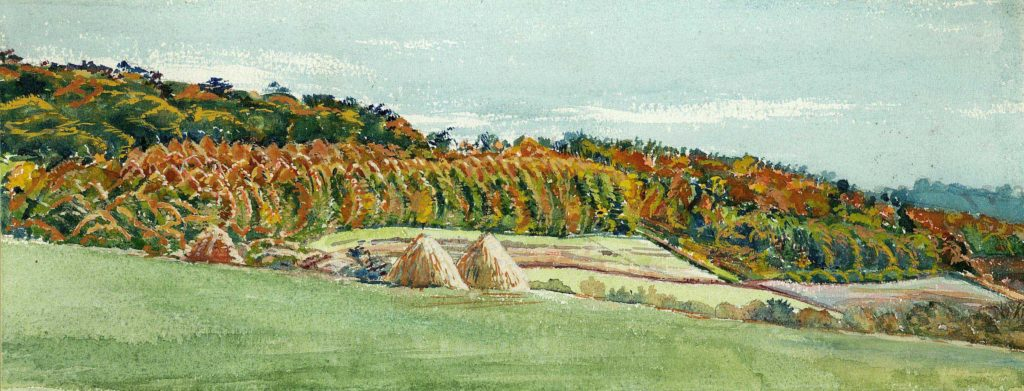 'Harvest Time' Watercolour by Ross Nichols