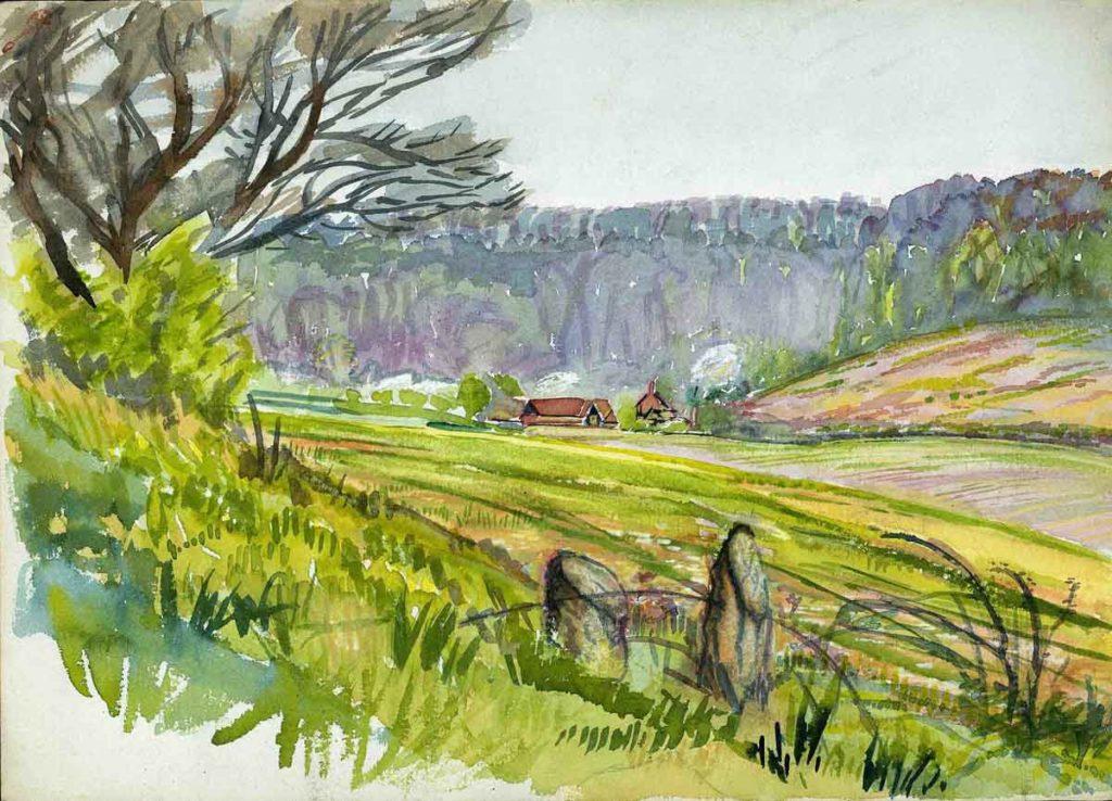 'Hyde Shaw' Watercolour Ross Nichols