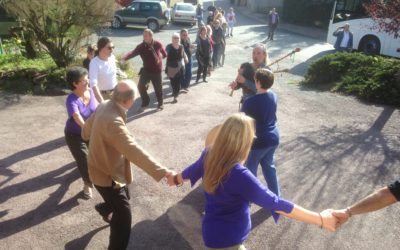 Dancing at the OBOD retreat in Brocéliande Nov 2014