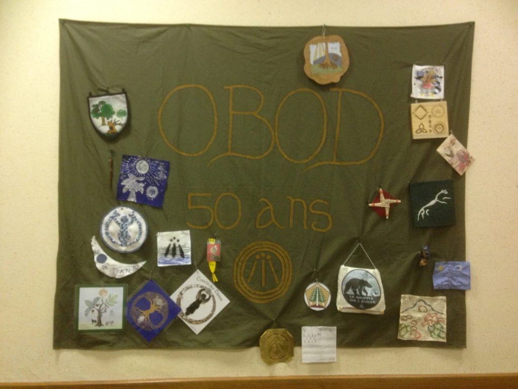 Banner presented in Brocéliande to commemorate OBOD's 50th year