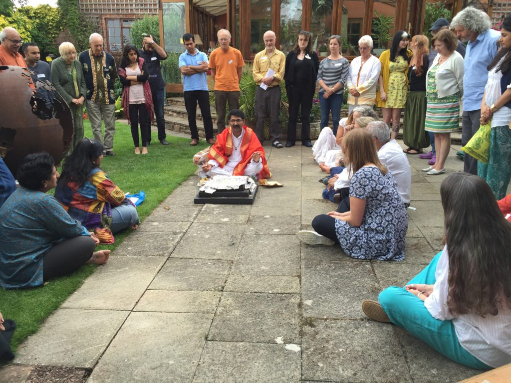 Puja at the One Tree Gathering, Whit Lenge Gardens August 2015