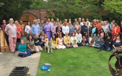 Participants at the One Tree Gathering, Whit Lenge Gardens August 2015