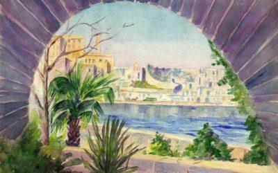Malta 1939 Watercolour by Ross Nichols