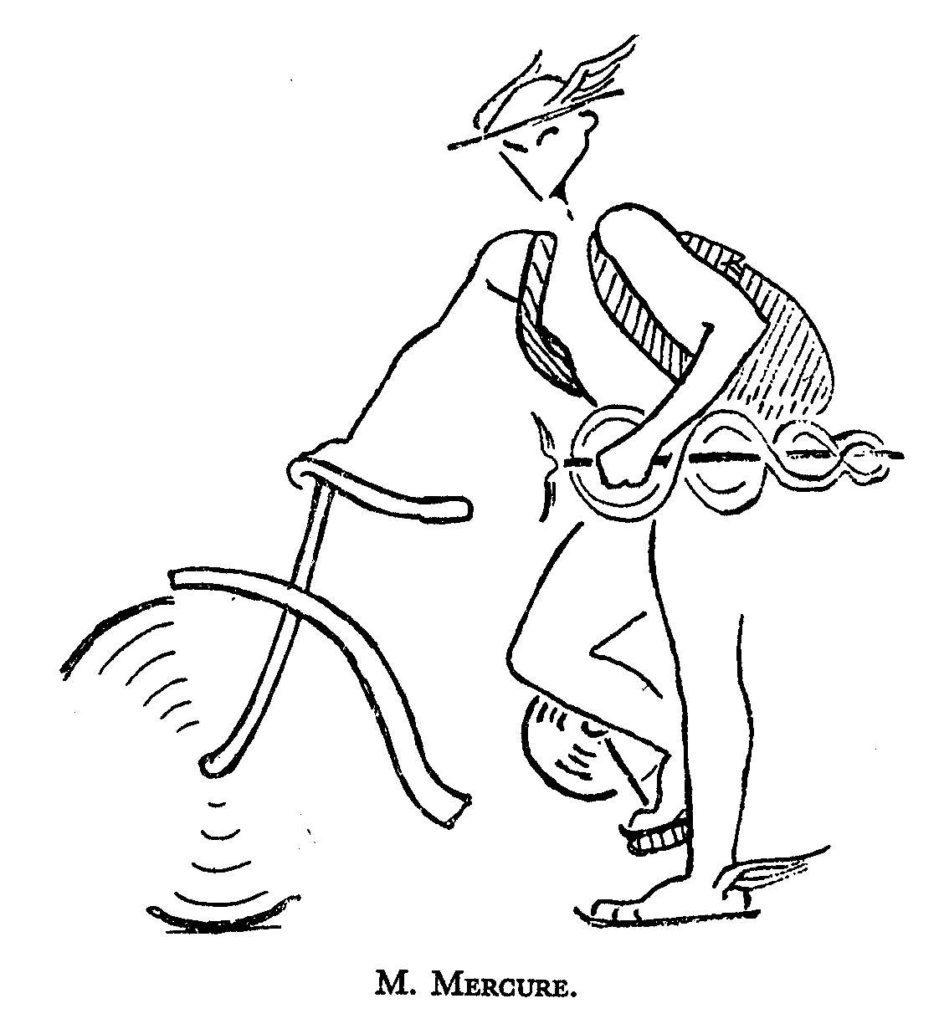 Drawing by R.Nichols in 'Sassenach Stray'