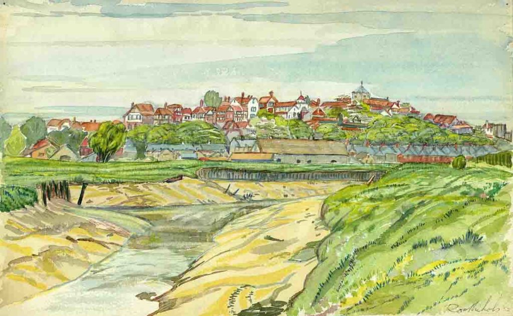 'Rye, East Sussex' Watercolour by Ross Nichols