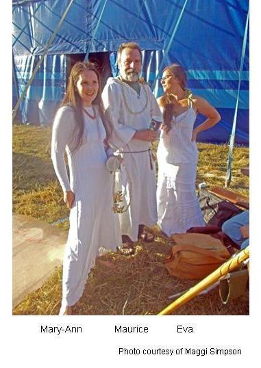 Bestival Druids offstage