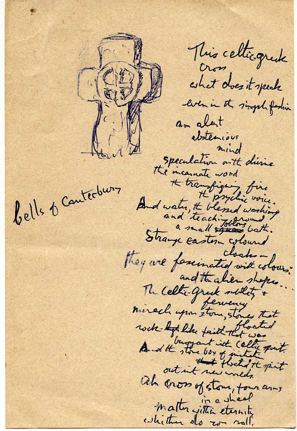 An example of Nuinn's sketching and poetry-writing